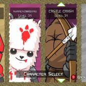 Castle Crashers Character Select Screen at Gamers with Jobs