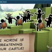 Horde of 2d Visigoths threatening your castle in VR game Longbow