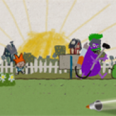 Post-Modernist Gameplay ... with crayolas.