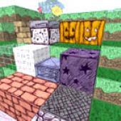 screenshot of the Scribblecraft mod in play