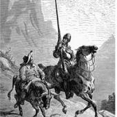 Don Quixote de la Mancha and Sancho Panza, 1863, by Gustave Doré