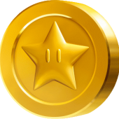 Star Coin from Super Mario Bros.