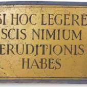 si hoc legere scis nimium eruditionis habes
