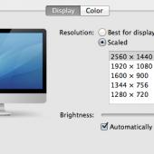 OSX screen resolution