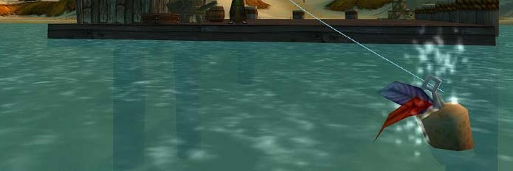 Fishing off the pier in World of Warcraft
